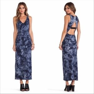 Sanctuary Blue striped tie dye maxi dress size S